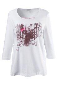Gina Laura Shirt mit Strass, 3/4 Arm, elastisch...