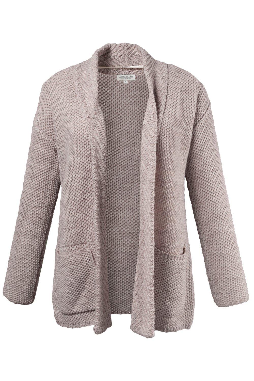 Artikel klicken und genauer betrachten! - Strickjacke mit weicher Wolle und Alpaka. Verschlusslose Form mit zwei aufgesetzten Taschen. Lange Ärmel. | im Online Shop kaufen