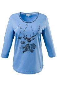 Gina Laura Shirt mit Pailletten und Hirschmotiv...