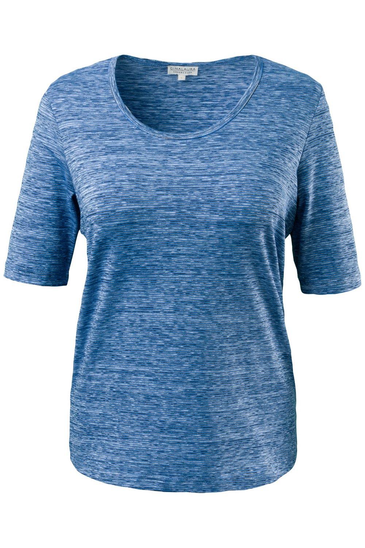 Artikel klicken und genauer betrachten! - Shirt in sportiver Streifenoptik und Wohlfühl-Farben. Aus elastischem Jersey mit Rundhalsausschnitt und Halbarm. Bequemer Tragekomfort, der besonders wichtig ist, wenn Sie in Bewegung sind.   im Online Shop kaufen