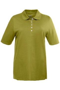 Poloshirt, Samtband-Knopfleiste, Pikeequalität, 100% Baumwolle