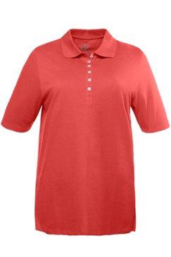 Poloshirt, Regular, Samtband-Knopfleiste, Pikeequalität, 100% Baumwolle
