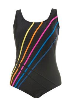 Badeanzug, farbige Streifen, Softcups, Unterbrustband