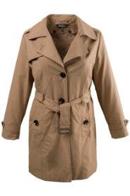 Ulla Popken Classic Belted Trench Coat