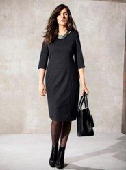 Ulla Popken Stretch Knit Perfect Black Dress