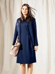 Ulla Popken Shaped V-Neck Stretch Dress