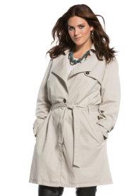 Ulla Popken Cotton Trench Coat