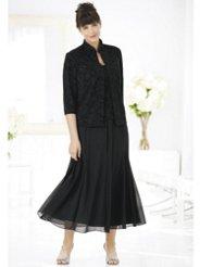 Ulla Popken Perfect Delight Sparkle Jacket Dress Set
