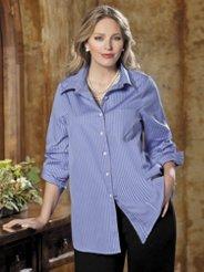 Ulla Popken Iron-free Spread Collar Shirt