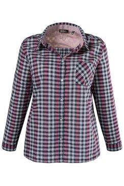 Karo-Hemdbluse, gerader Schnitt, 100 % Baumwolle
