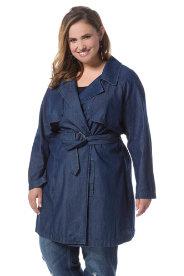 Ulla Popken Tencel Look Trench Coat