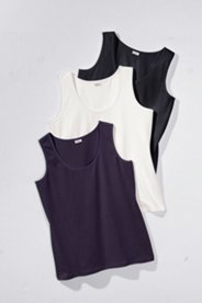 Sleeveless Tees in Triple Pack