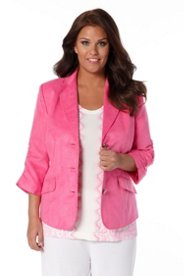 Blazer in weicher Veloursoptik