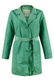 Wattierter Trenchcoat in Trendfarbe
