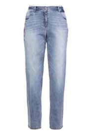 Boyfriend-Jeans mit Stickerei, 5-Pocket-Form