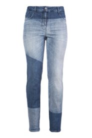 Boyfriend-Jeans in Patch-Optik, weiter Schnitt
