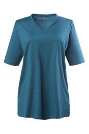 Basic-V-Shirt, V-Ausschnitt, 100% Baumwolle