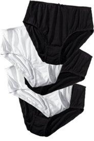 Slips, 5er-Pack, schwarz und weiß