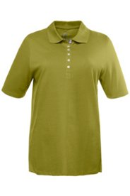 Poloshirt mit Samtband, Pikee, 100% Baumwolle, Regular