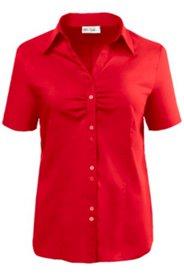 Bluse aus Baumwollstretch, leicht tailliert