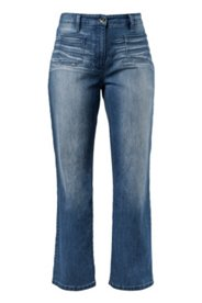 Marlene-Jeans, aufgesetzte Fronttaschen, Used Style