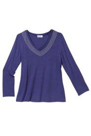 Bodyforming-Shirt in edlem Look mit Glanzgarnstreifen