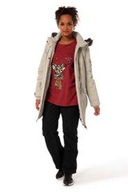 Jacke mit abnehmbarer Kapuze, wind- und wasserdicht, warm wattiert