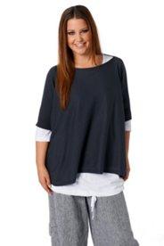 Pullover aus Bio-Baumwolle, Seitenschlitze