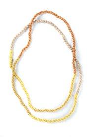 Kette, 200 cm, Holzperlen in 3 abgestimmten Farbtönen