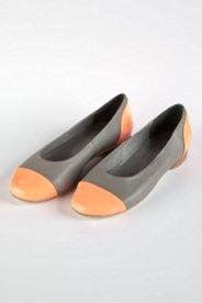 Ballerina aus Leder mit Farbakzenten, Weite: H.