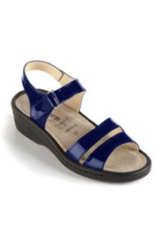 Sandalette aus Lackleder, Weite: H