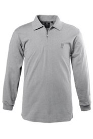 Langarm-Poloshirt, Zippkragen