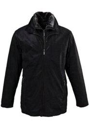 Lederjacke, 3tlg. Schal und Handschuhe, Fleece-Einsatz