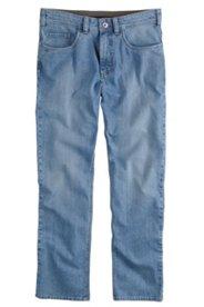 5-Pocket-Jeans, Straight Fit, dirty denim, Stretch-Komfortbund
