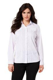 Bluse aus elastischem Baumwollgewebe mit Elasthan-Anteil