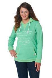 Pullover mit Kapuze, Ziernähte, Schriftmotiv