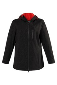 Softshell-Jacke mit rotem Fleecefutter