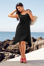 Kleid, ärmellos, größenangepasste Länge