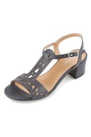 Sandalette mit Lochmuster, Weite H
