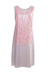 Sommerkleid mit Pailletten-Stickerei