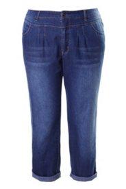 7/8-Jeans, Boyfriend-Hose, gerades Bein