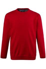 Pullover, Rundhals-Ausschnitt, Bruststickerei, reine Baumwolle