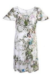 Sommerkleid mit Flügelärmeln, Elasthan