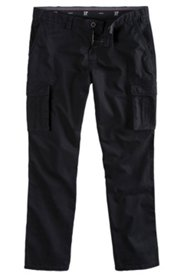 Cargohose, Regular Fit, schwarz, Stretch-Komfortbund