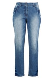 Jeans, 5-Pocket-Modell, gerades Bein