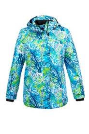 Skijacke mit Reflektoren, wasserabweisend, winddicht, atmungsaktiv