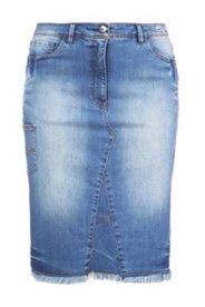 Jeansrock, teilelastischer Bund, 5-Pocket-Modell