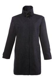 Mantel mit hohem Stehkragen, Wolloptik
