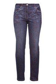 Jeans mit Trendmuster, Regular Fit, gerades Bein