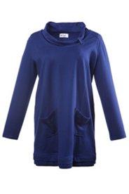 Sweatshirt, langes Modell mit Taschen und Häkelborte